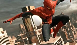 Our web-slinging hero swings around New York City in the video game The Amazing Spider-Man.