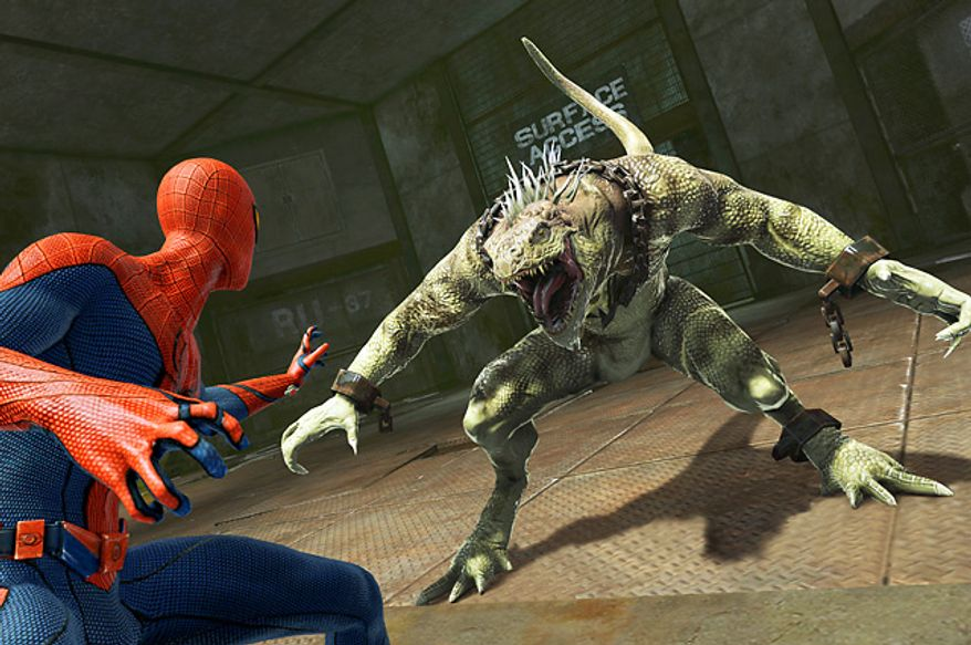 Spidey faces off against the Iguana in the video game The Amazing Spider-Man.