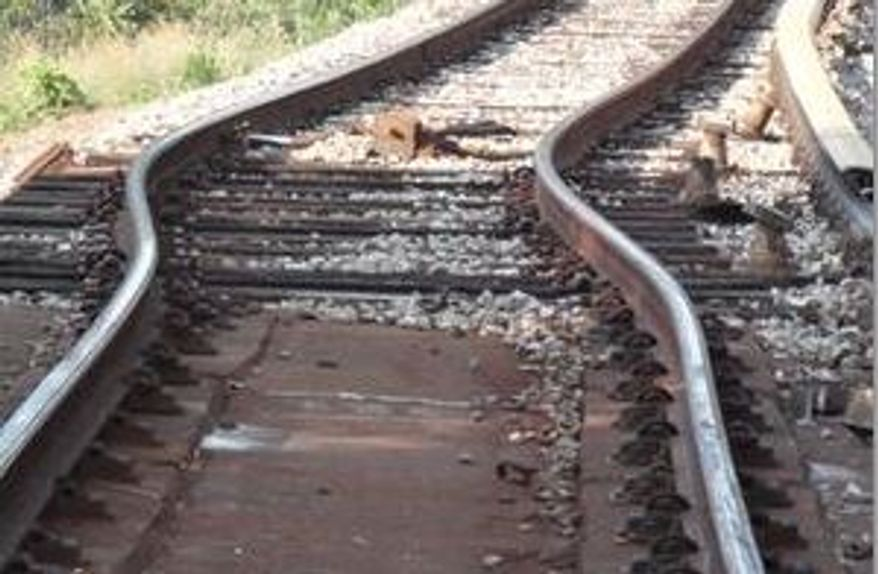 """** FILE ** Metro officials say a """"heat kink"""" in the track near the West Hyattsville Station was the likely cause of Friday's train derailment (Photo provided by Metro)"""
