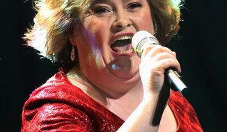 "Singer Susan Boyle received an honorary doctorate on Friday from Scotland's Queen Margaret University in recognition of her ""contribution to the creative industries."" (Associated Press)"