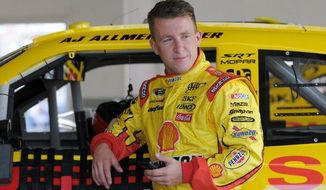 """A.J. Allmendinger's """"A"""" sample was taken last weekend at Kentucky Speedway. Penske Racing is awaiting the results of the driver's second sample. (Associated Press)"""