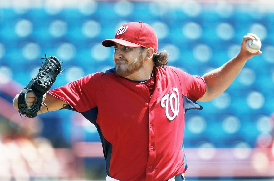 John Lannan could be just the answer when the time comes time for the Washington Nationals to shut down Stephen Strasburg. (AP photo)