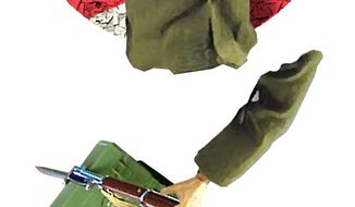 Illustration Transforming the Military by Alexander Hunter for The Washington Times