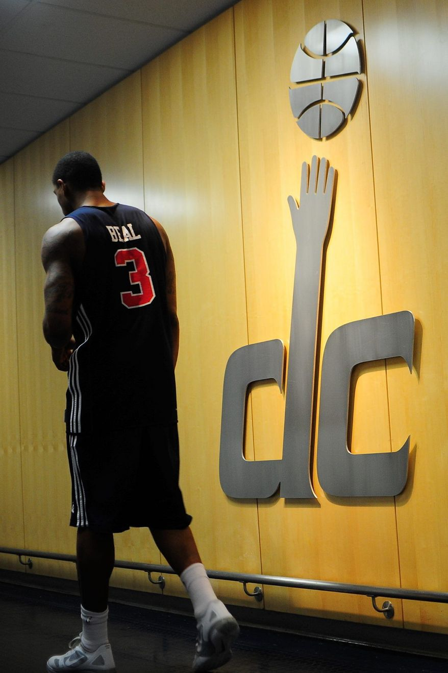 Bradley Beal walks to the locker room following practices during the Wizards summer mini-camp at Verizon Center, Washington D.C., Tuesday, July 10, 2012. (Ryan M.L. Young/The Washington Times)