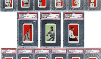 More than 700 well-preserved baseball cards from 1910 were found in the attic of a house in Defiance, Ohio. The best of the bunch - 37 cards - are expected to bring a total of $500,000 when they are sold at auction. (Heritage Auctions via Associated Press)