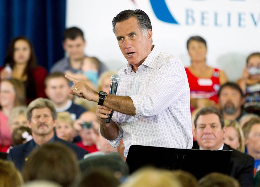 **FILE ** Presumptive GOP presidential nominee Mitt Romney, in Colorado on Tuesday, July 10, 2012. Associated Press)