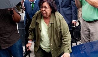 "In a guilty plea Tuesday, Jeanne Harris, 75, admitted she funneled the undocumented campaign funds through one of her companies and culled ""straw donors"" who contributed to the Gray campaign in their names but were reimbursed for their donations. (Raymond Thompson/The Washington Times)"