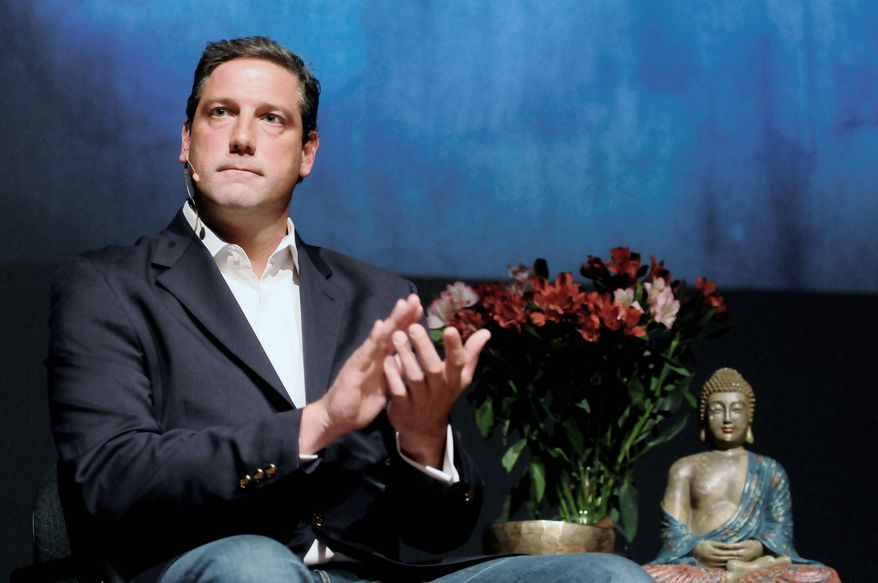 "Rep. Tim Ryan, author of the book ""A Mindful Nation"" speaks at BuddhaFest, in Arlington, Va., June 15, 2012. (Preston Keres/Special to The Washington Times)"