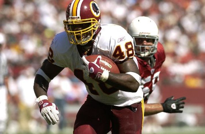 Running back Stephen Davis played seven of his 11 seasons with the Redskins, rushing for 8,052 yards and 65 touchdowns. (Associated Press)