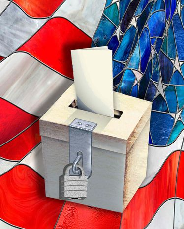 Illustration America Votes by John Camejo for The Washington Times