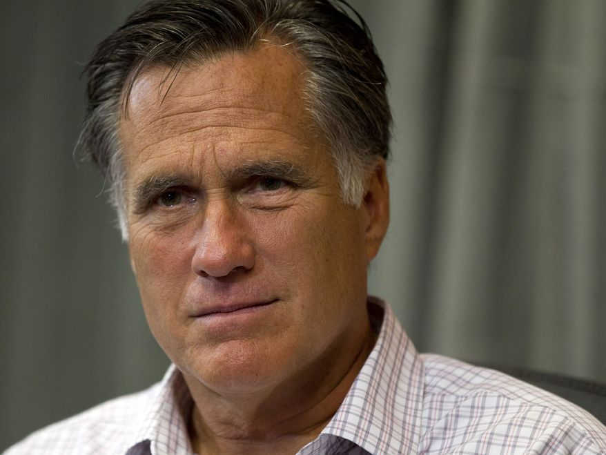 **FILE** Republican presidential candidate Mitt Romney is seen here on July 10, 2012, in Colorado Springs, Colo. (Associated Press)