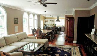 The dining room and family room are open to the kitchen.