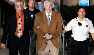 Former Penn State assistant football coach Jerry Sandusky faces 442 years in prison for abusing boys. A state-funded investigation found that his bosses wilfully didn't report what they knew about his behavior to authorities. (Associated Press)