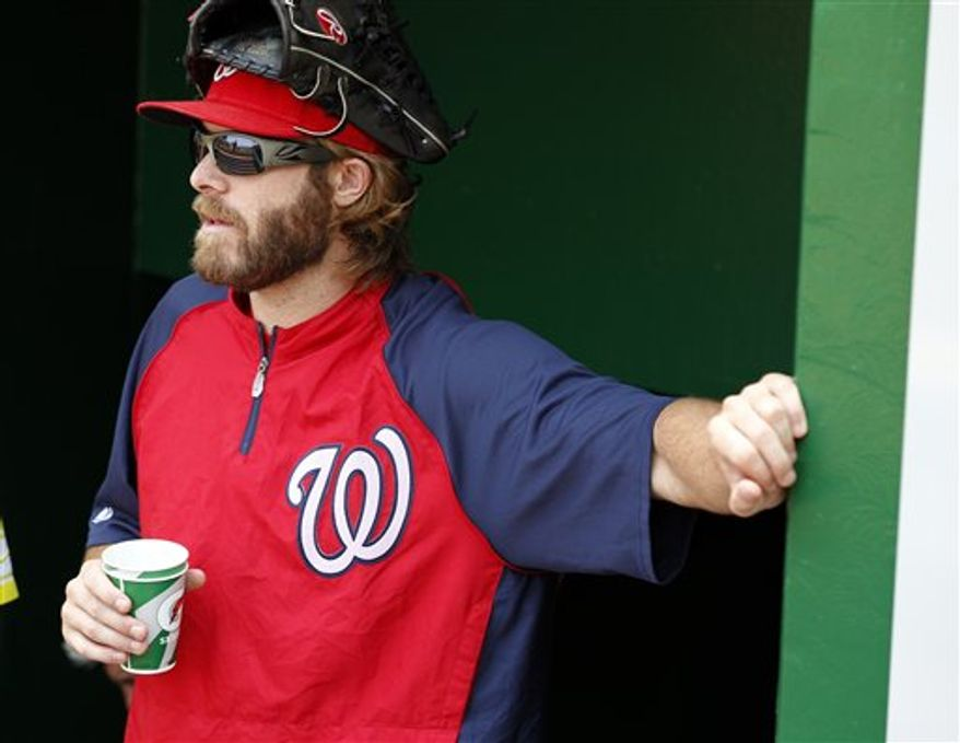 Jayson Werth has played in 27 games this season for the Nationals. (Associated Press)