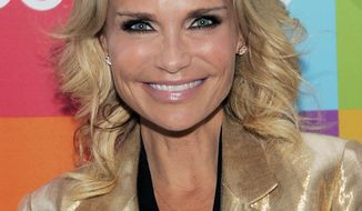 """** FILE ** In this Aug. 15, 2011, file photo, actress and singer Kristin Chenoweth poses before the """"Glee Sing-A-Long"""" event at Santa Monica High School in Santa Monica, Calif. Chenoweth has been taken to the hospital after suffering an injury on the set of the CBS drama """"The Good Wife,"""" Wednesday, July 11, 2012. (AP Photo/Chris Pizzello, file)"""