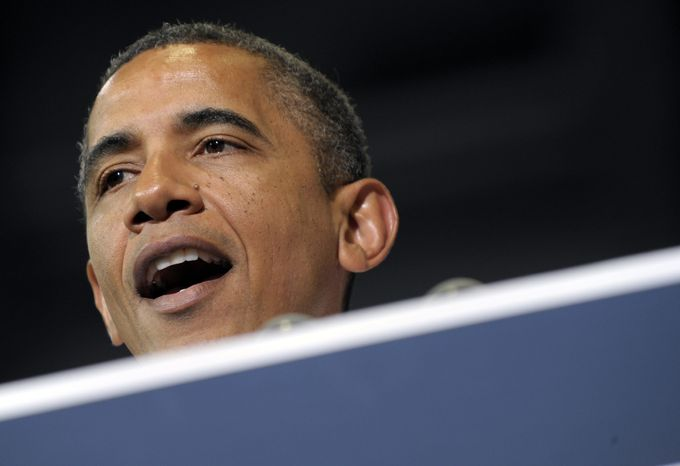 ** FILE ** President Obama speaks in Cedar Rapids, Iowa, on Tuesday, July 10, 2012. (AP Photo/Susan Walsh, File)