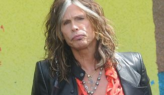 "** FILE ** This March 28, 2012, file photo shows Steven Tyler speaking at the Aerosmith news conference announcing the 2012 Global Warming Tour in Los Angeles. Tyler announced Thursday, July 12, 2012, that he will not be returning as a judge on the singing competition series ""American Idol."" (AP Photo/Katy Winn, file)"