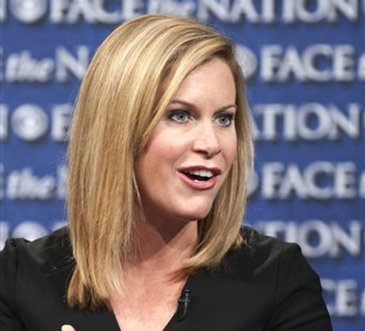 """Stephanie Cutter, deputy campaign manager for President Obama's 2012 re-election bid, appears on CBS' """"Face the Nation"""" in Washington on Friday, July 15, 2012. (AP Photo/CBS, Chris Usher)"""