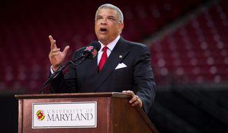 Maryland athletic director Kevin Anderson (Barbara L. Salisbury/The Washington Times)