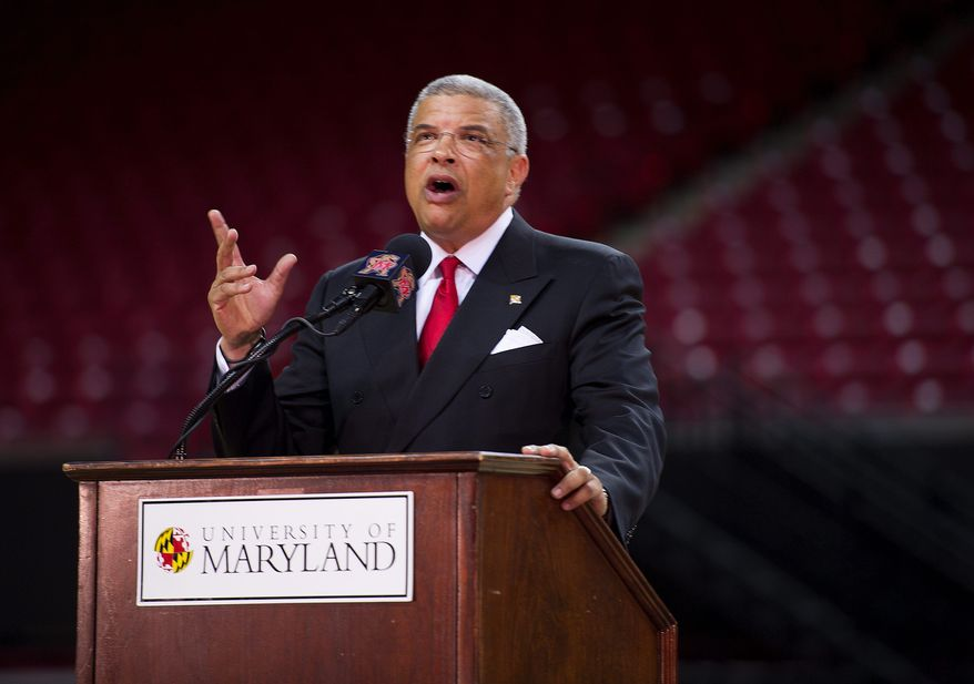 Maryland athletic director Kevin Anderson (Barbara L. Salisbury/The Washington Times) **FILE**