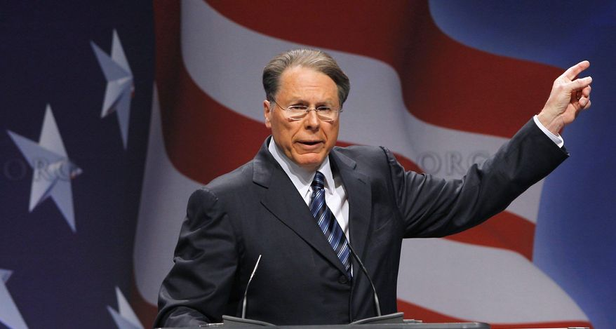 """""""We're in the fight of a lifetime, and every gun owner needs to join me in going all in,"""" says Wayne LaPierre, vice president and CEO of the National Rifle Association in a new video salvo from the group aimed at the 2012 presidential campaign. (Associated Press)"""