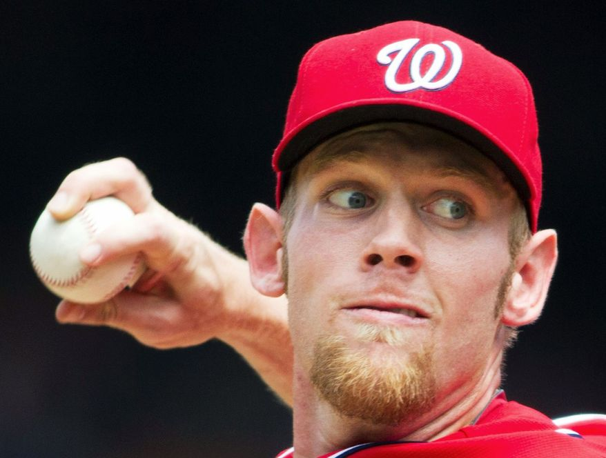 Stephen Strasburg pitched six scoreless innings, striking out six in the Nationals' 4-1 win over the Marlins on Sunday afternoon. (Associated Press)