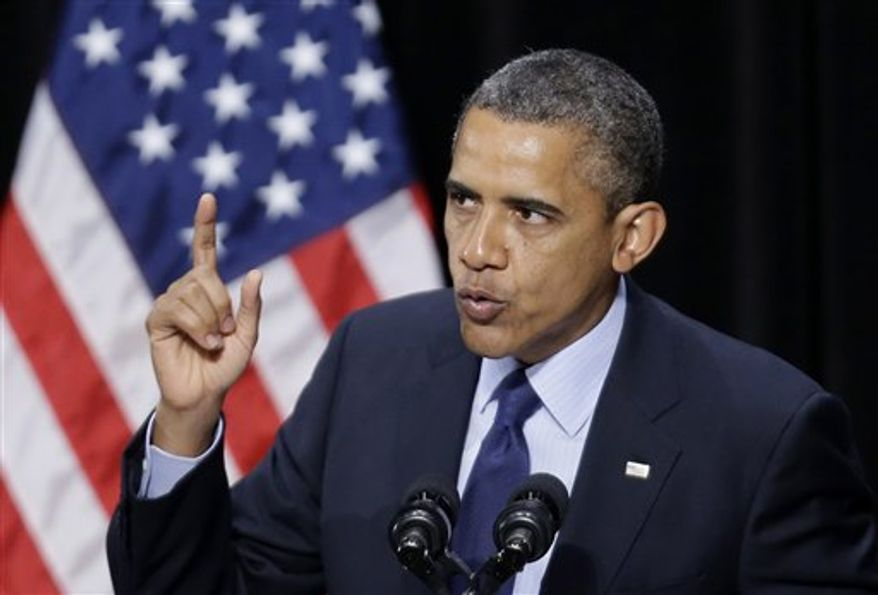 President Obama speaks during a fundraising event Tuesday, July 17, 2012, in San Antonio. (AP Photo/Eric Gay)