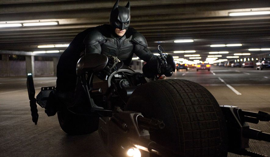"**FILE** Christian Bale stars as Batman in ""The Dark Knight Rises."" (Associated Press/Warner Bros. Pictures)"