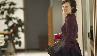 "Elisabeth Moss stars as Peggy Olson in AMC's ""Mad Men."" (Associated Press/AMC)"
