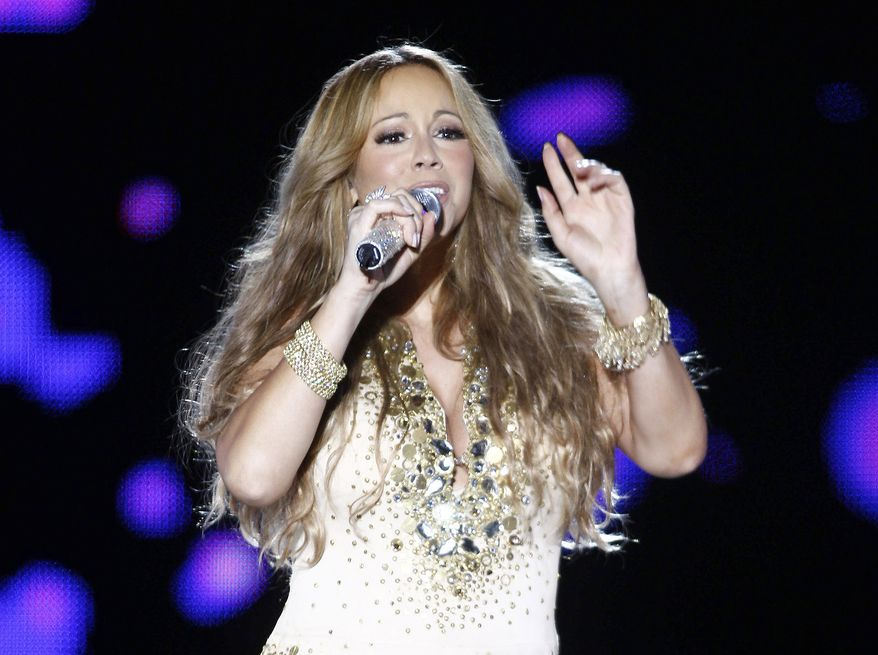 Singer Mariah Carey performs in concert at the Mawazine Festival in Rabat, Morocco, on Saturday, May 26, 2012. (AP Photo/Abdeljalil Bounhar)