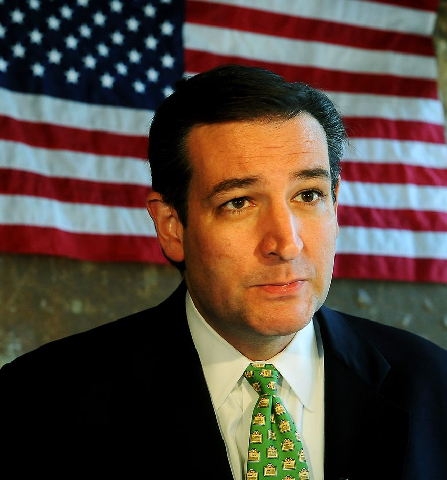 **FILE** Sen. Ted Cruz, Texas Republican (Associated Press/The Amarillo Globe News)