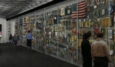 """""""The whole point of the education center [at the Vietnam Veterans Memorial Wall] is this is a place to educate young people, visitors to Washington, on the principles of duty, courage and honor,"""" foundation leader Jan Scruggs says.  (VVME AND RALPH APPLEBAUM ASSOCIATES)"""
