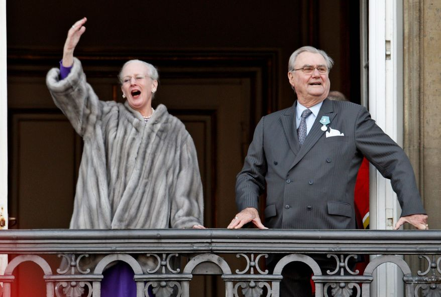 Queen Margrethe and Prince Henrik of Denmark are among the few European royals not forced to cut back spending because of the debit crisis. In Spain, King Juan Carlos has cut his own salary, as well as that of his son and heir Crown Prince Felipe, by about 7 percent. In Britain, Queen Elizabeth has opened some parts of Buckingham Palace to tourists, raising money on admission tickets. Official accounts showed British taxpayers spent nearly $50 million supporting the monarchy in 2011. (Associated Press)