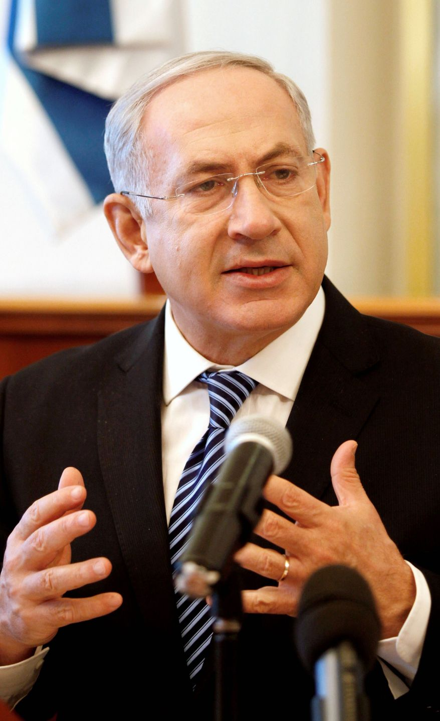 Prime Minister Benjamin Netanyahu says Israel is on alert for plots to kill Israelis overseas, including the Olympics. Eleven Israelis were killed at the 1972 Olympics in Munich. (Associated Press)