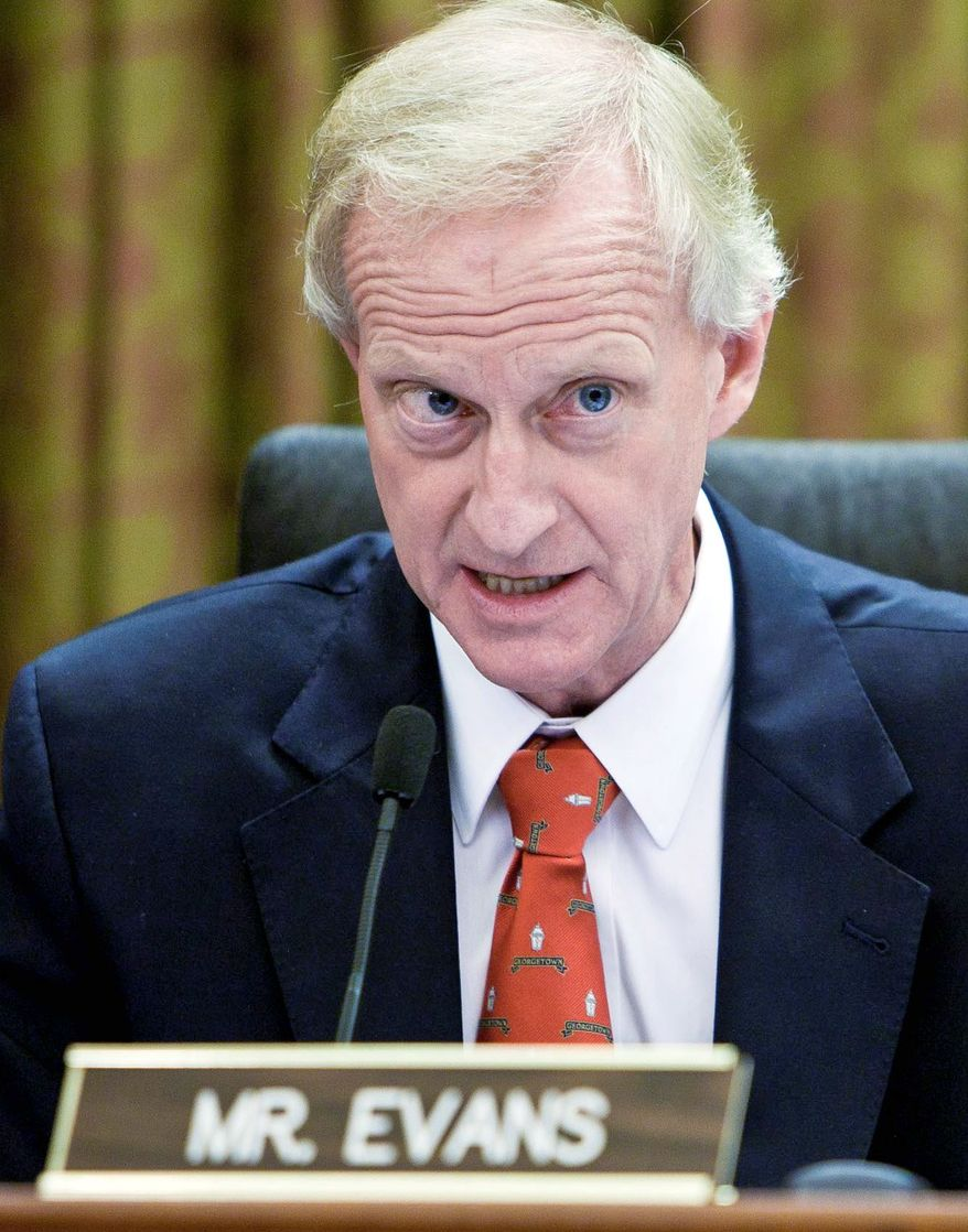 D.C. Council member Jack Evans said he will be ready to run either in 2014 or sooner than that should a special election be required. (T.J. Kirkpatrick/The Washington Times)