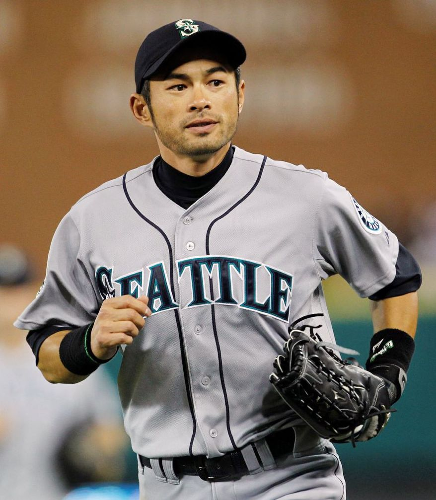 Outfielder Ichiro Suzuki, 38, is a 10-time All-Star and 10-time Gold Glove winner. A .322 career hitter and former AL MVP, Suzuki holds the record for most hits in a season. (Associated Press)