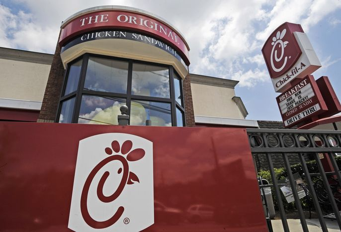 A Chick-fil-A fast-food restaurant in Atlanta is seen here on July 19, 2012. (Associated Press) **FILE**