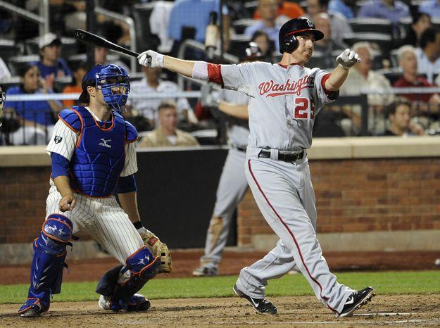 Adam LaRoche blasted a two-run home run in the sixth inning, his 17th of the year. (AP Photo/Kathy Kmonicek)