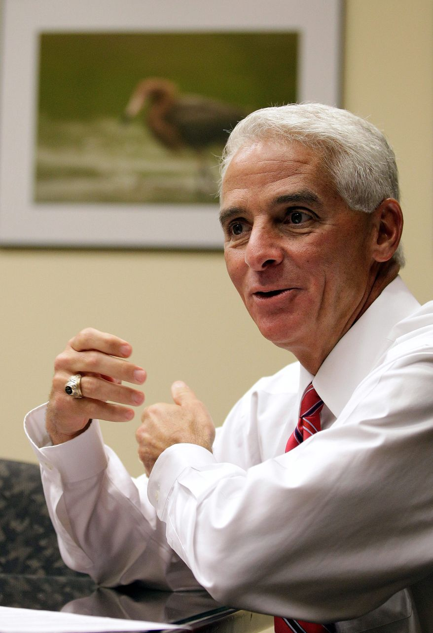 **FILE** Former Florida Gov. Charlie Crist (Associated Press)