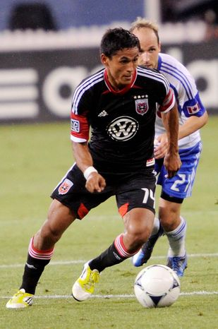 preston keres/special to the washington times  D.C. United midfielder Andy Najar stated his intentions of playing for Honduras in April 2011.