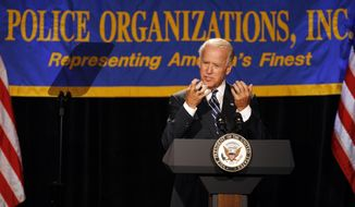 **FILE** Vice President Joseph R. Biden Jr. speaks July 23, 2012, at the annual convention of the National Association of Police Organizations in Manalapan, Fla. (Associated Press)