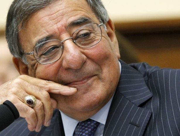 """Defense Secretary Leon Panetta testifies July 25, 2012, on Capitol Hill in Washington before the joint House Armed Services-Veterans Affairs """"Back from the Battlefield"""" hearing. (Associated Press)"""