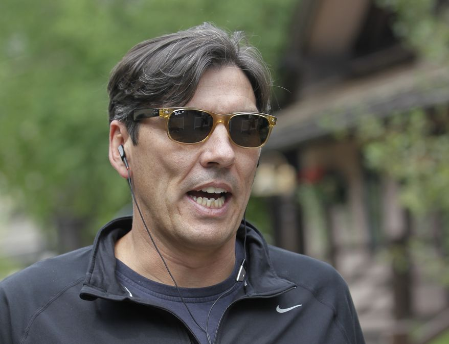 AOL CEO Tim Armstrong at the Allen & Company Sun Valley Conference in Sun Valley, Idaho, Wednesday, July 11, 2012. (AP Photo/Paul Sakuma)