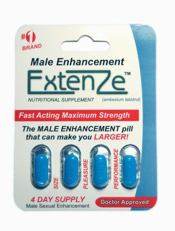 A product image of ExtenZe male enhancement pills. This over-the-counter supplement caused LaShawn Merritt his chance at the London Olympics. (Product handout)