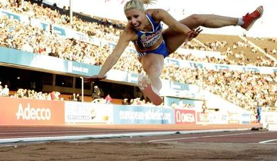 Triple jumper Voula Papachristou was removed from the Greek team by the Hellenic Olympic Committee after she posted a racist joke on Twitter. (Associated Press)