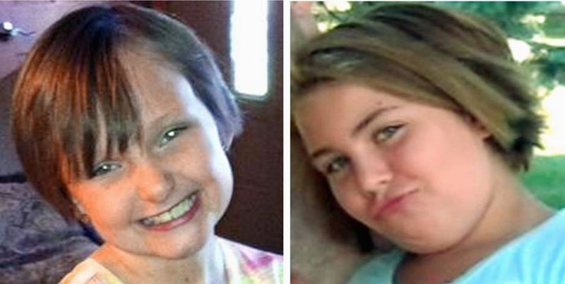 Cousins Lyric Cook, 10, (right) and Elizabeth Collins, 8, have been missing since July 13. An Iowa TV station said Thursday it will turn over footage of an interview with the mother of one of the youths to investigators seeking clues. (Associated Press)
