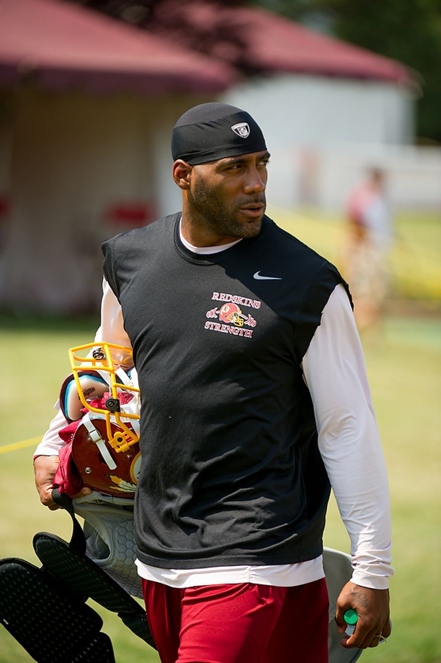 ** FILE ** Washington Redskins cornerback DeAngelo Hall (Andrew Harnik/The Washington Times)
