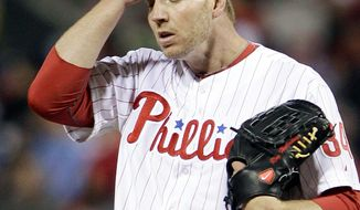 Ace Roy Halladay has battled a shoulder injury, and first baseman Ryan Howard tore his Achilles tendon making the final out of the NLDS loss to St. Louis last season. (Associated Press)