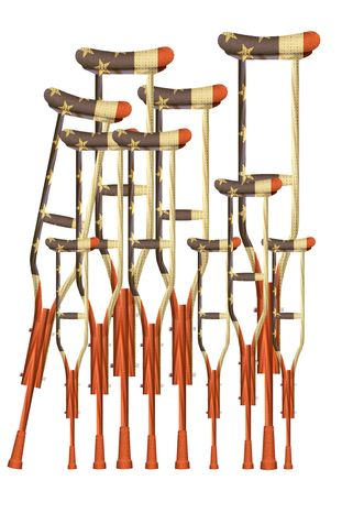 Illustration U.S. Crutches by Alexander Hunter for The Washington Times