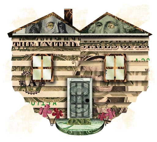 Illustration Home Money by Linas Garsys for The Washington Times